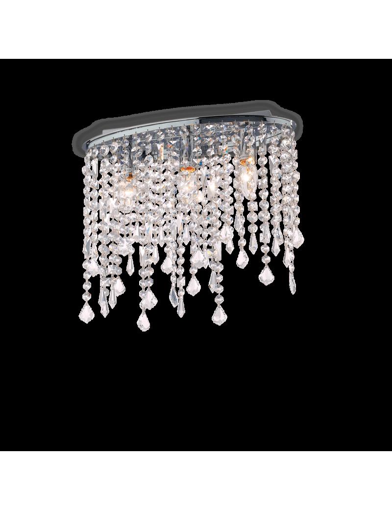 IDEAL LUX: Rain pl3 lampada soffitto pendagli cristallo con gocce e ottagoni in offerta