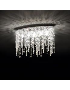 IDEAL LUX: Rain pl5 lampada soffitto pendagli cristallo con gocce e ottagoni in offerta