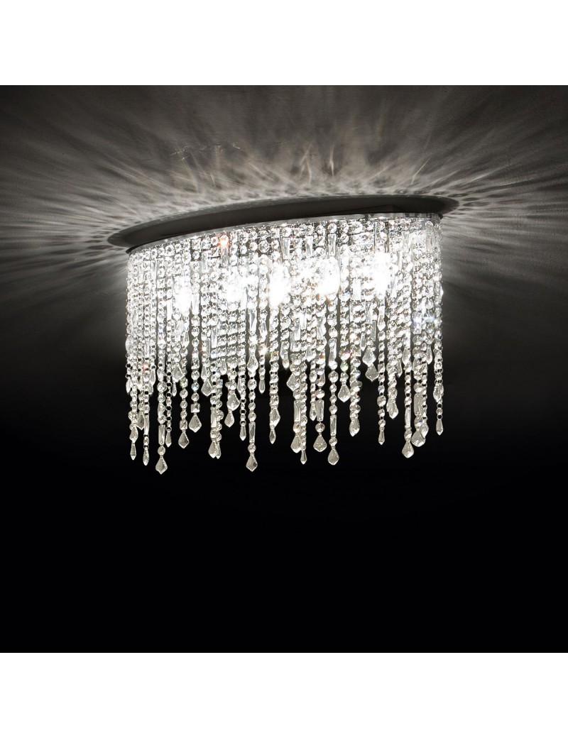 Lampadario Cristallo A Gocce.Rain Pl5 Lampada Soffitto Pendagli Cristallo Con Gocce E Ottagoni