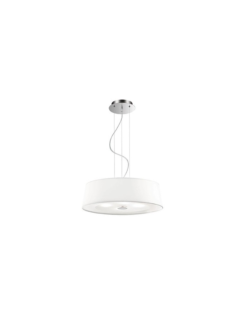 IDEAL LUX: Hilton sp4 sospensione regolabile moderna bianco cromo 50cm in offerta