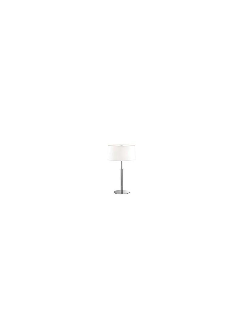 IDEAL LUX: Hilton tl2 lampada da tavolo bianco cromo moderna in offerta