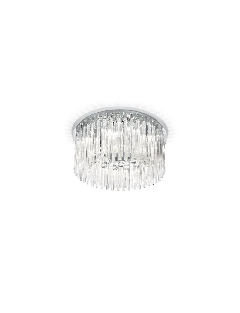 IDEAL LUX: Elegant pl12 plafoniera soffitto elegante canne di vetro in offerta