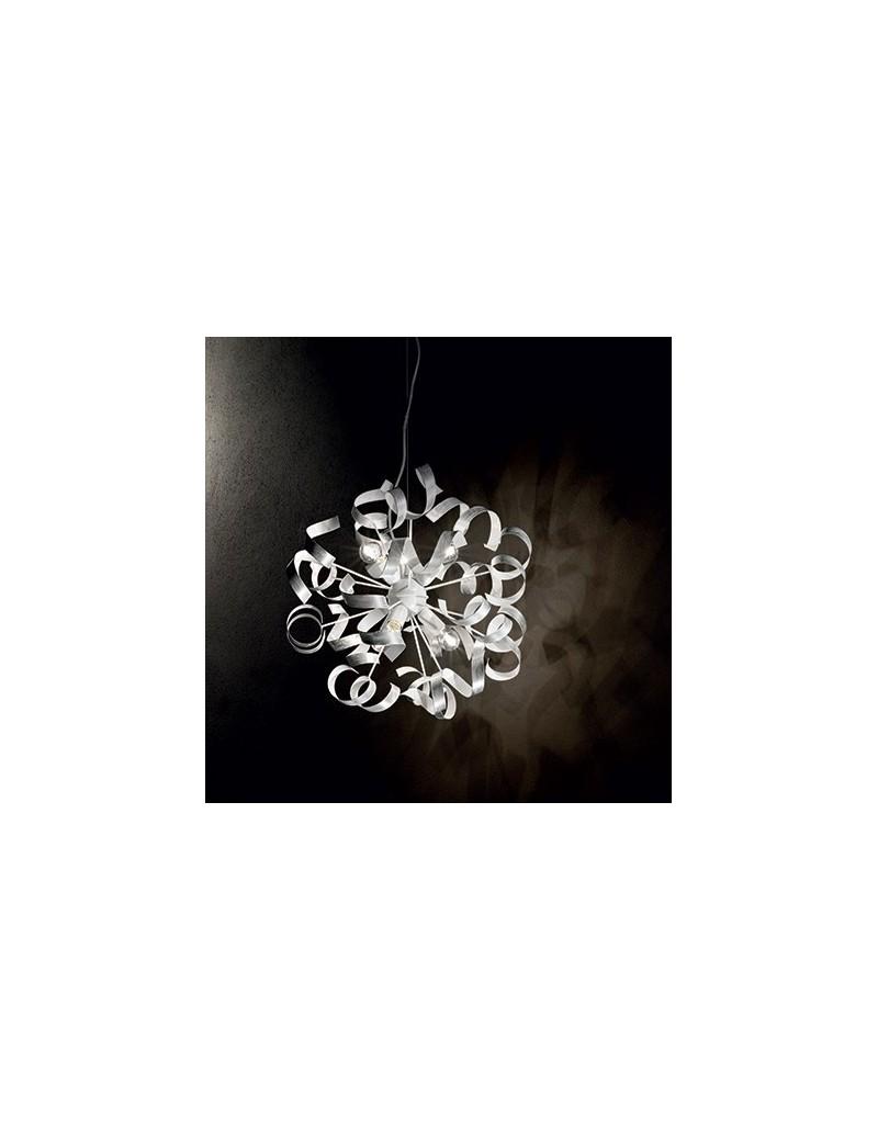 IDEAL LUX: Vortex sp6 sospensione artigianale riccioli argento in offerta