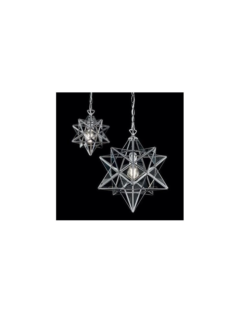 IDEAL LUX: Stella sp1 big sospensione in metallo e vetro forma stella in offerta