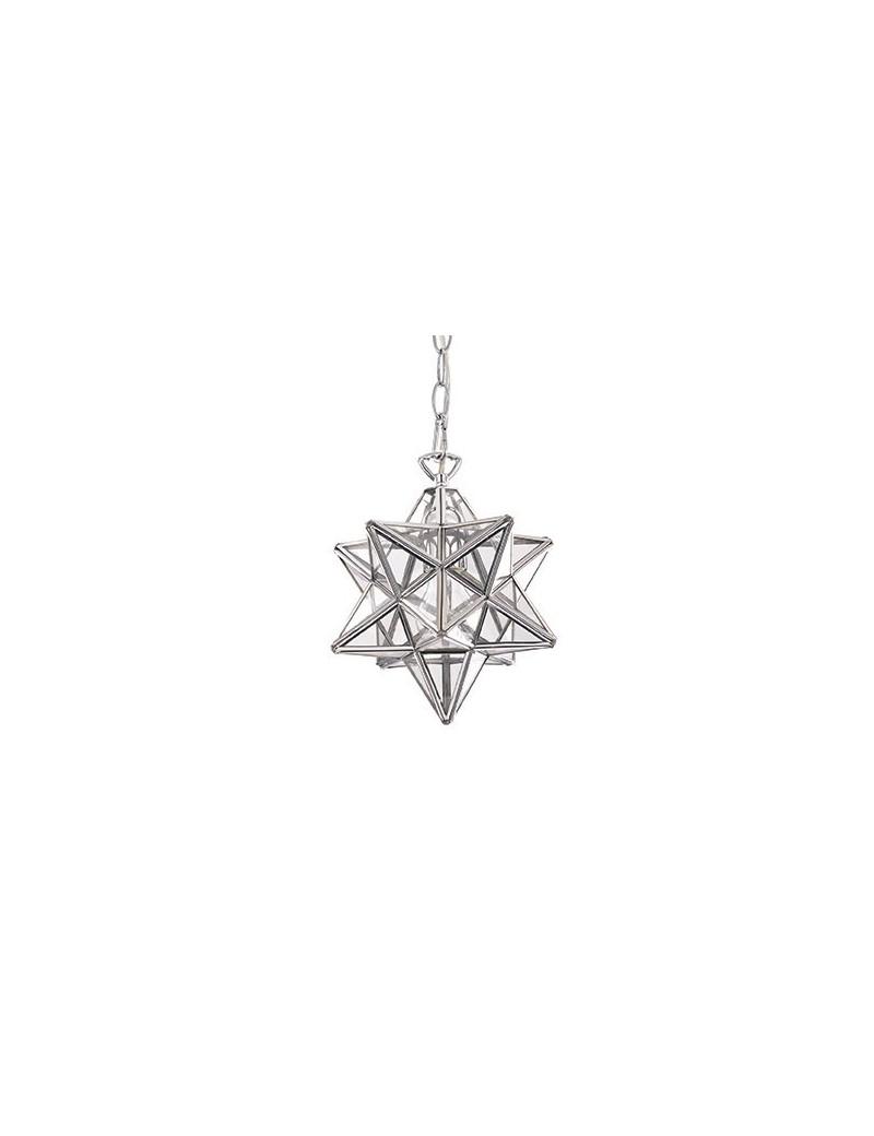 IDEAL LUX: Stella sp1 small sospensione in metallo e vetro forma stella in offerta
