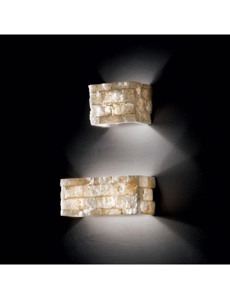 IDEAL LUX: Carrara ap2 applique effetto marmo carrara in alabastro in offerta