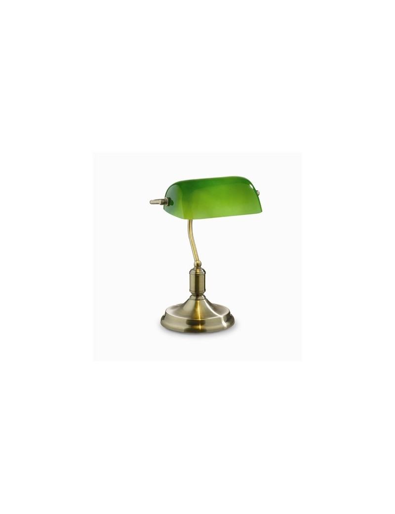 IDEAL LUX: Lawyer tl1 brunito lampada ufficio scrivania metallo e vetro in offerta