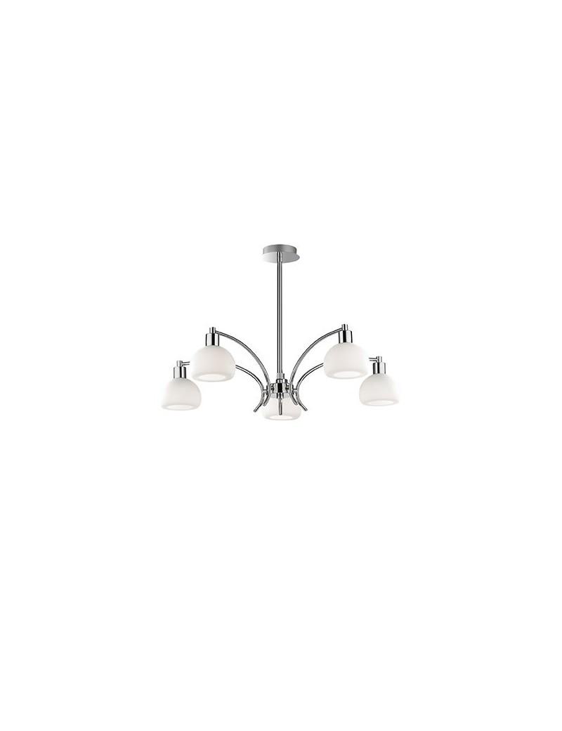 IDEAL LUX: Tokio sp5 lampada soffitto con diffusori in vetro bianco in offerta