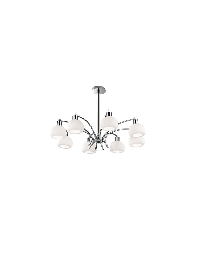 IDEAL LUX: Tokio sp8 lampada soffitto con diffusori in vetro bianco in offerta