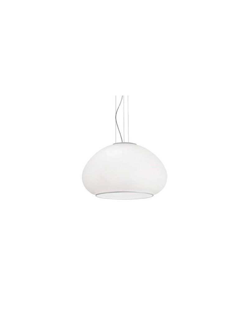 IDEAL LUX: Mama sp3 d50 lampadario sospensione cucina vetro bianco in offerta