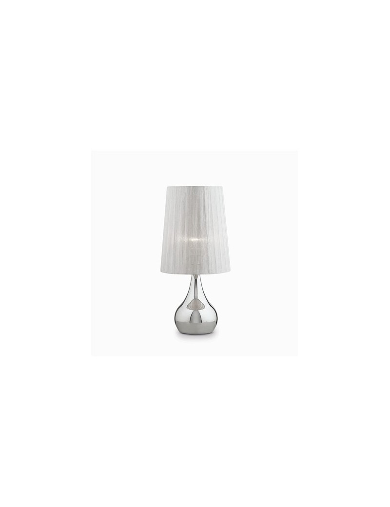 IDEAL LUX: Eternity tl1 big lampada tavolo argento paralume organza in offerta