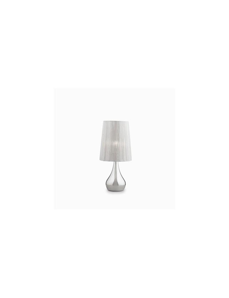 ETERNITY TL1 SMALL LAMPADA TAVOLO ARGENTO PARALUME ORGANZA IDEAL LUX