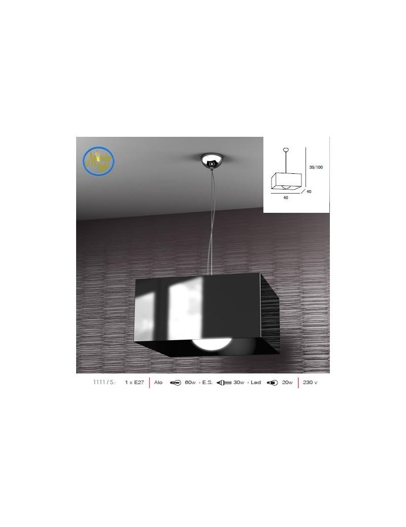 TOP LIGHT: Lift sospensione quadrata nero moderno struttura cromo in offerta