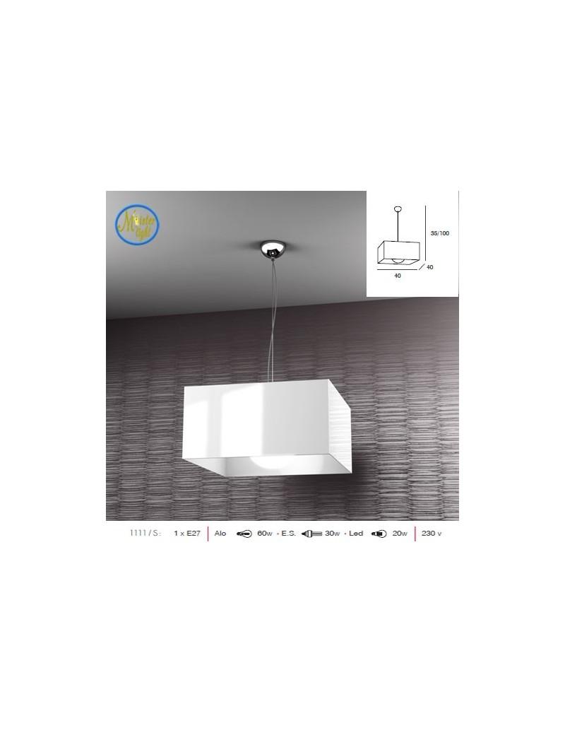 TOP LIGHT: Lift sospensione quadrata bianca moderno struttura cromo in offerta