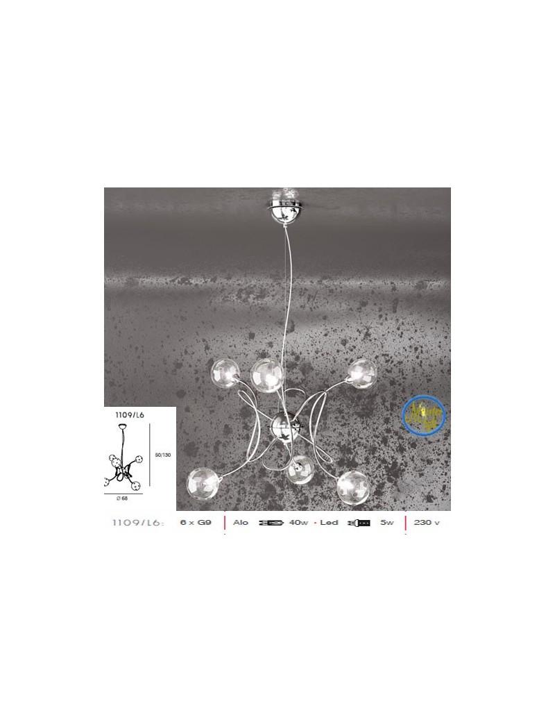 TOP LIGHT: Super ball sospensione regolabile con 6 sfere forate decorative in offerta
