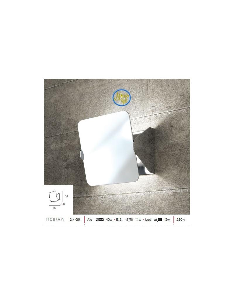 TOP LIGHT: Screen diffusore basculante applique moderno cromo piccola in offerta