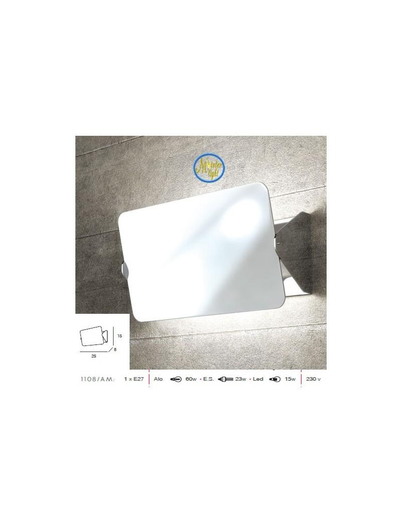 TOP LIGHT: Screen applique moderno cromo media diffusore basculante in offerta