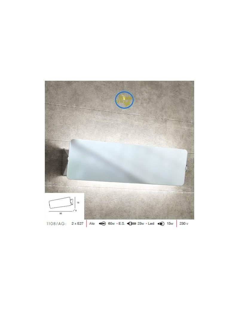 TOP LIGHT: Screen applique moderno diffusore basculante cromo in offerta