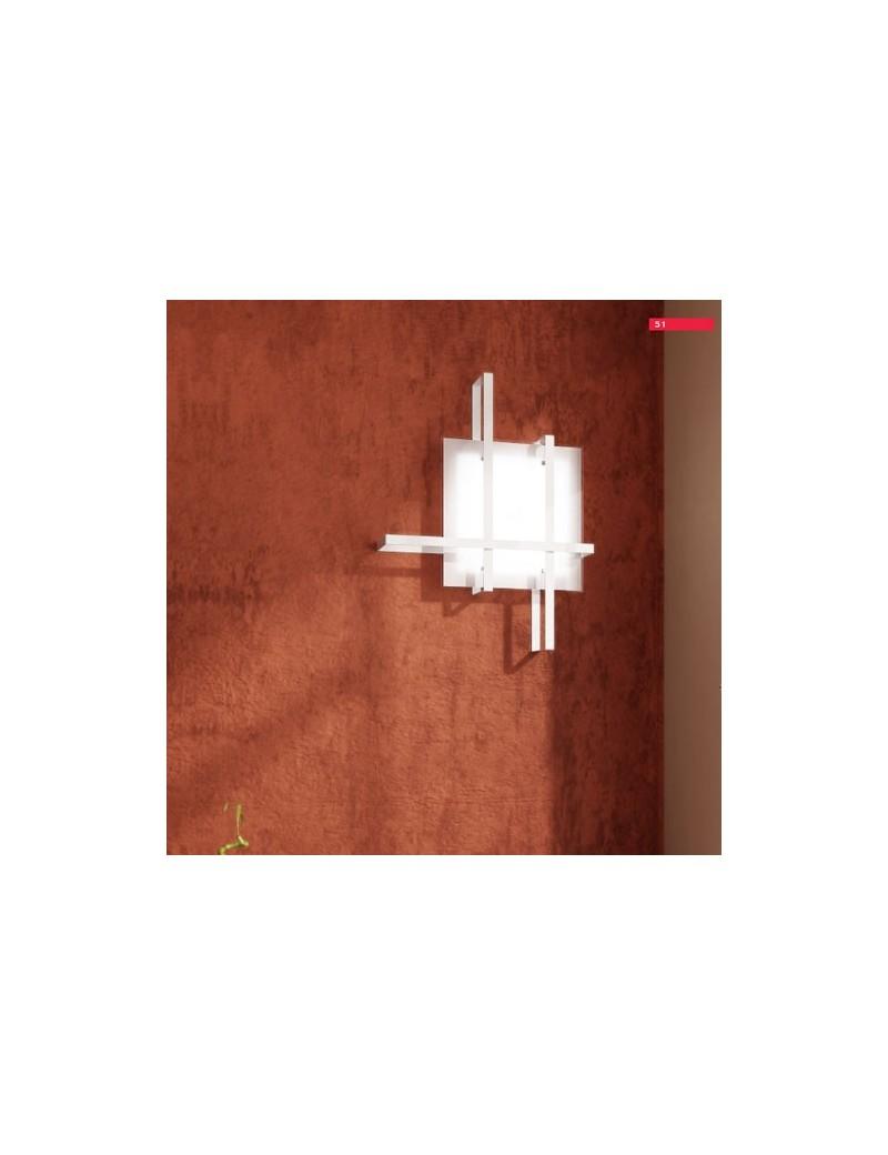 TOP LIGHT: Cross applique plafoniera con fascia decorativa bianco in offerta