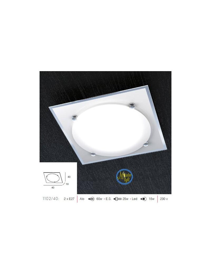 TOP LIGHT: Silence plafoniera con vetro rotondo 40cm in offerta