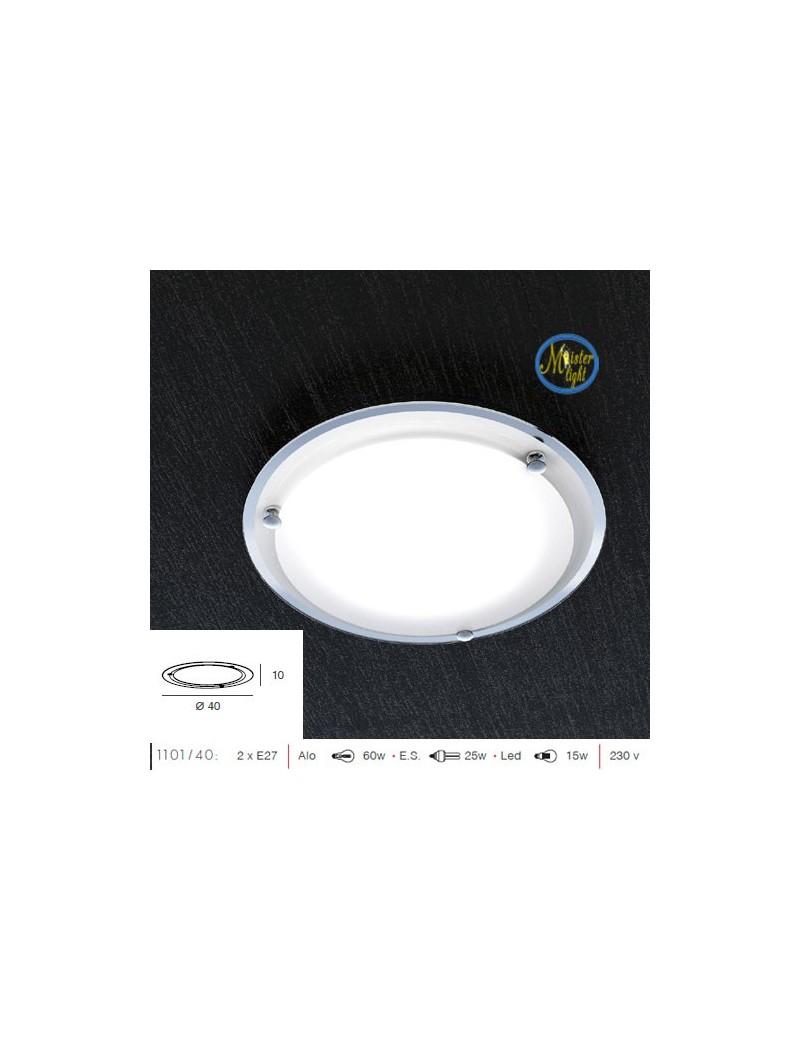 TOP LIGHT: Quiet plafoniera moderna cucina soggiorno camera cameretta bordo specchio 40cm in offerta