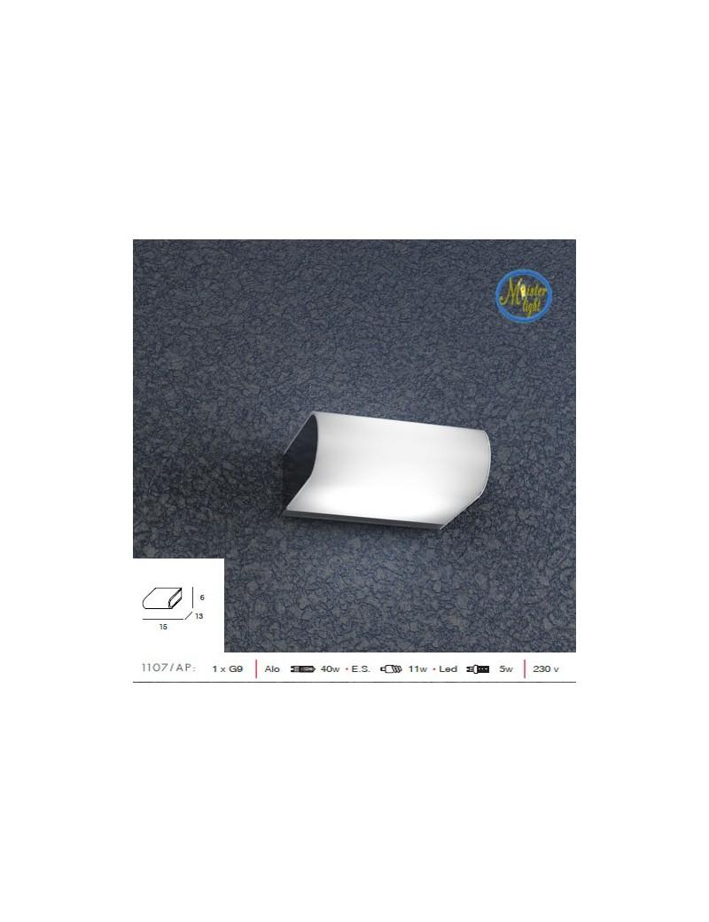 TOP LIGHT: Book small applique parere in metallo con vetro satinato in offerta