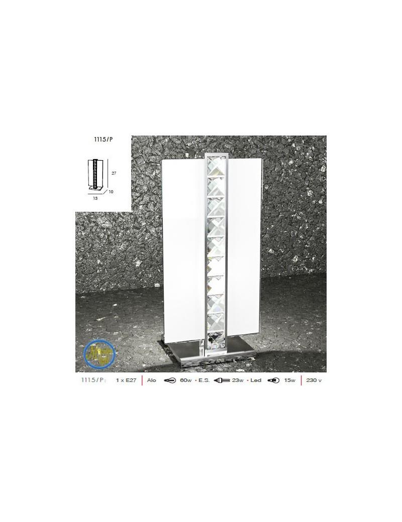TOP LIGHT: String lume lumetto con particolari in cristallo molato quadrato bianco in offerta