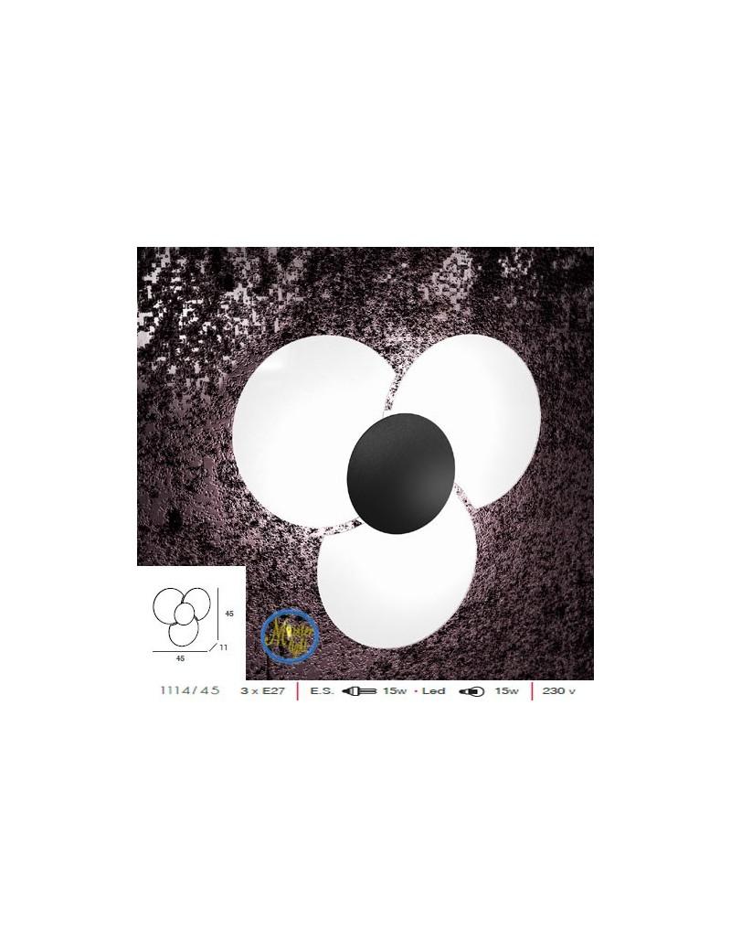 TOP LIGHT: Clover applique parete vetro serigrafato particolare colore nero in offerta