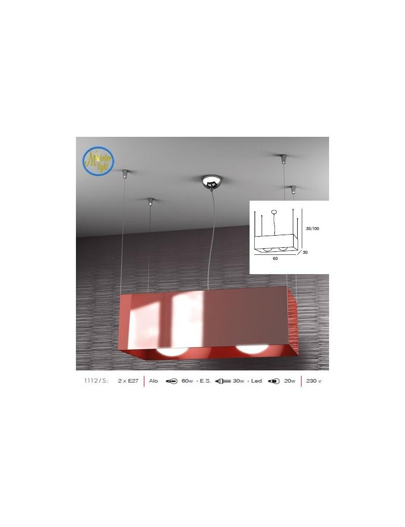 TOP LIGHT: Loft lampada sospensione rettangolare rosso in offerta