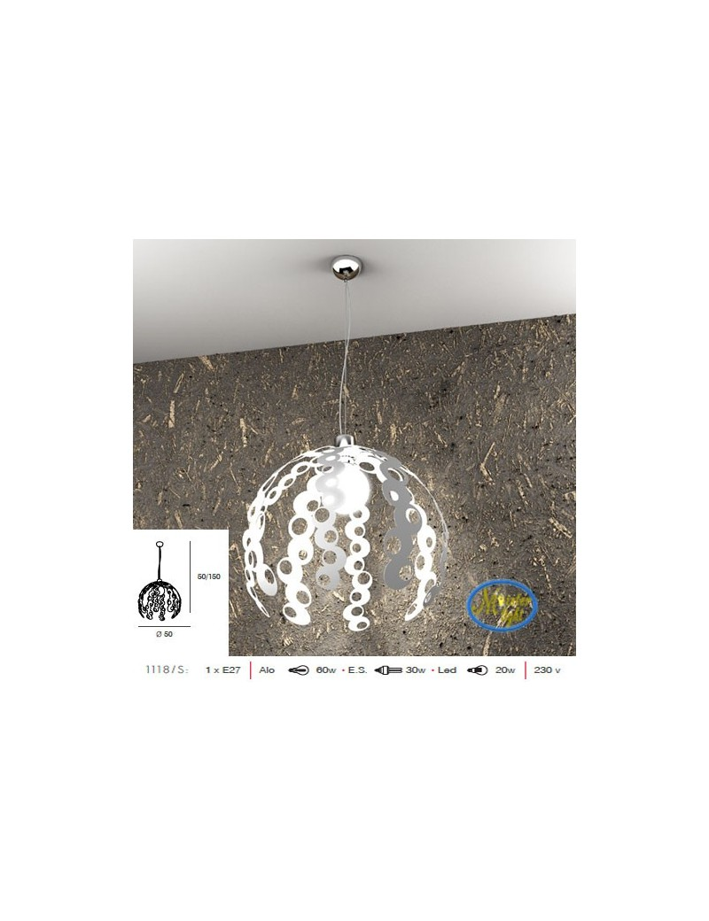 TOP LIGHT: Chain sospensione regolabile particolare bianco 50cm in offerta