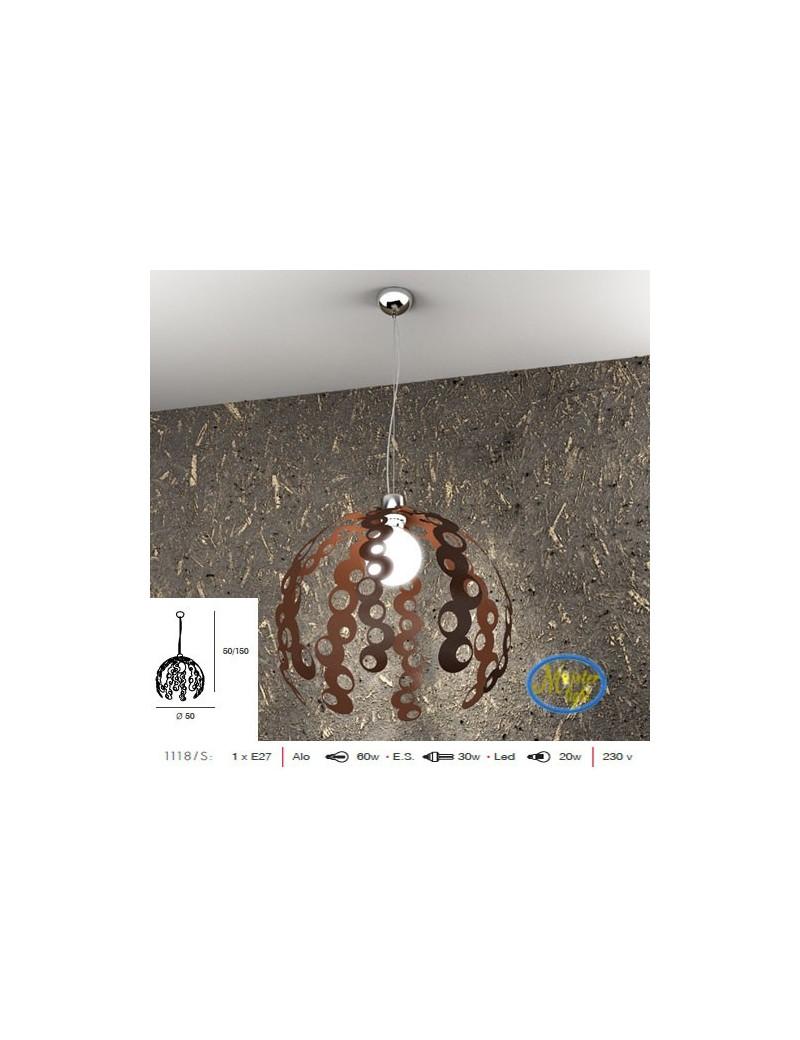 TOP LIGHT: Chain sospensione moderna regolabile particolare cortenr 50cm in offerta