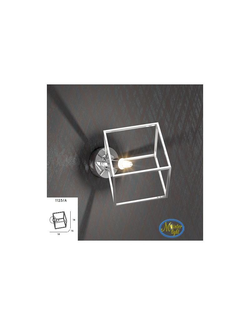 TOP LIGHT: Frame applique particolare metallo e acciaio con diffusore cubo 10x10cm in offerta