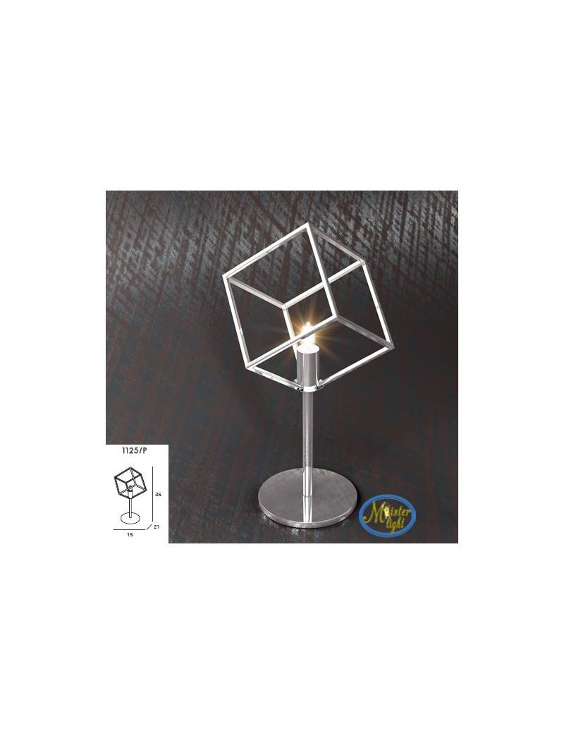 TOP LIGHT: Frame lume lumetto particolare metallo e acciaio con diffusore cubo 10x10cm in offerta
