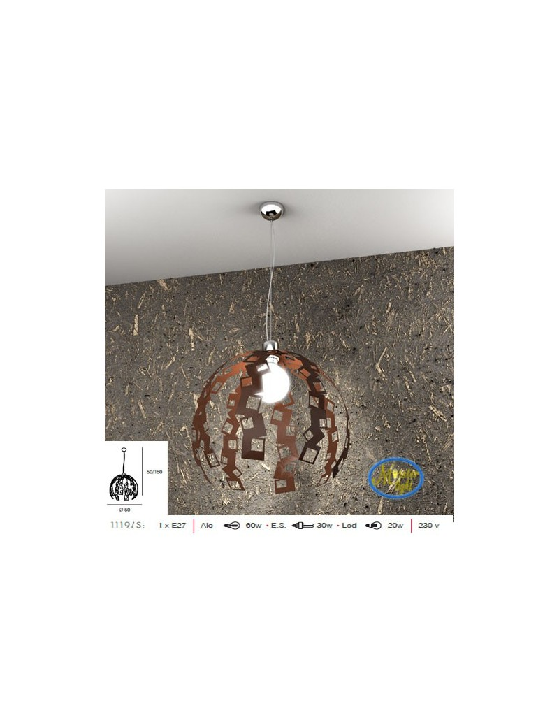 TOP LIGHT: Lock sospensione moderna particolare corten regolabile 50cm in offerta