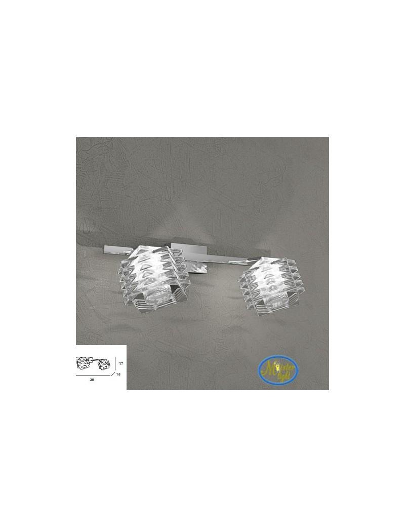 TOP LIGHT: Rubik 2 faretti applique con cubo in cristallo sfalsato struttura in metallo in offerta