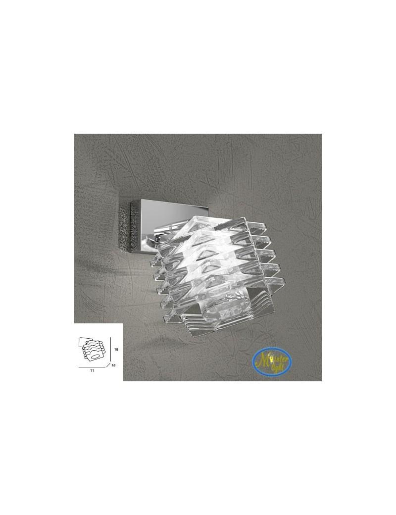 TOP LIGHT: Rubik faretto applique con cubo in cristallo sfalsato struttura in metallo in offerta