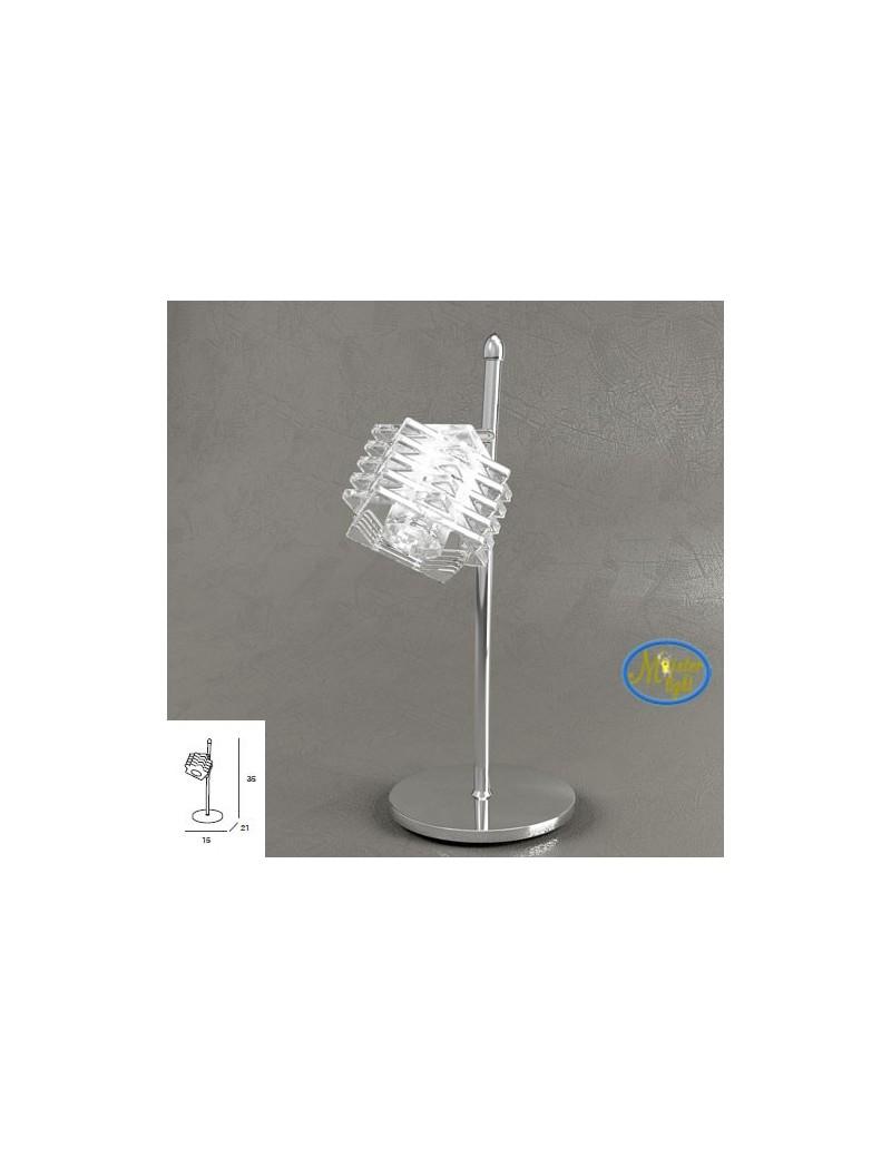 TOP LIGHT: Rubik lume lumetto con cubo in cristallo sfalsato struttura in metallo in offerta