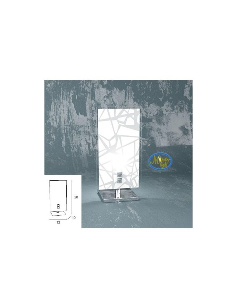 TOP LIGHT: Stripes lumetto metallo bianco e cromo vetro serigrafato camera da letto in offerta