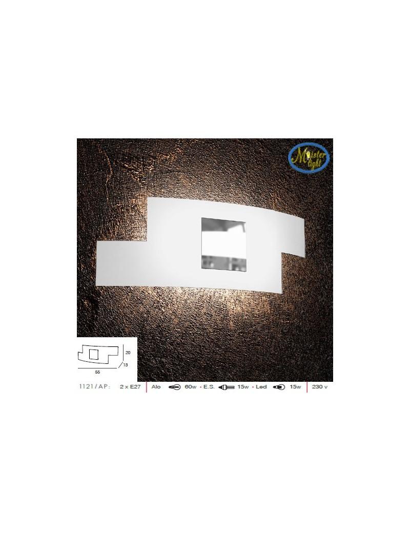 TOP LIGHT: Tetris color applique vetro serigrafato bianco decoro centrale cromo 57cm in offerta