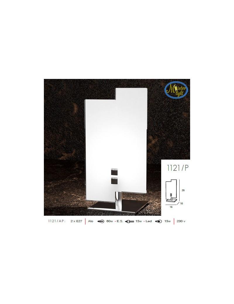 TOP LIGHT: Tetris color lumetto metallo cromato vetro serigrafato bianco in offerta