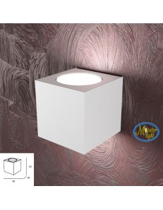 TOP LIGHT: Area applique in metallo bianco moderno 10x10cm in offerta