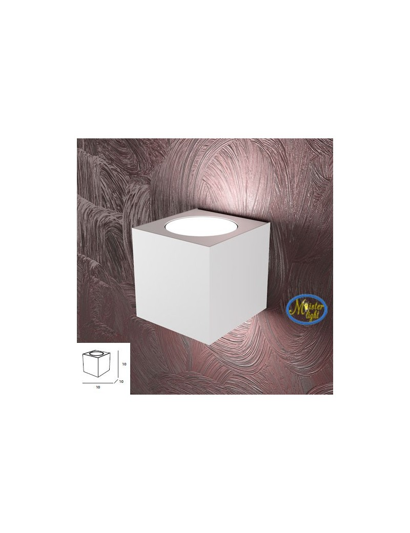 TOP LIGHT: Area applique in metallo bianco moderno 10x10cm in offerta