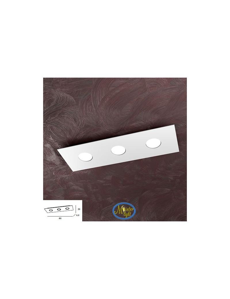 TOP LIGHT: Area plafoniera rettangolare metallo bianca 60x20cm in offerta