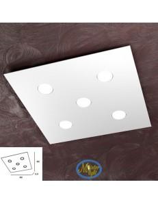 TOP LIGHT: Area plafoniera quadrata metallo bianca 60cm in offerta