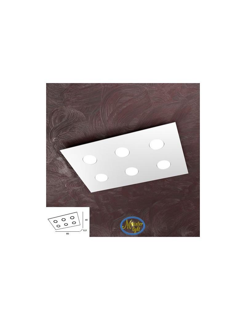 TOP LIGHT: Area plafoniera metallo bianca design moderno rettangolare 60x40cm in offerta