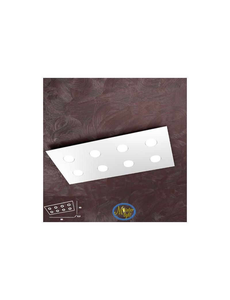 TOP LIGHT: Area plafoniera metallo rettangolare bianca 80x40cm in offerta