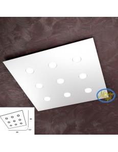TOP LIGHT: Area plafoniera quadrata metallo bianca design moderno 80cm in offerta