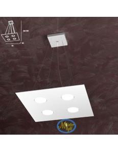 TOP LIGHT: Area sospensione in metallo quadrata bianco 40x40cm in offerta