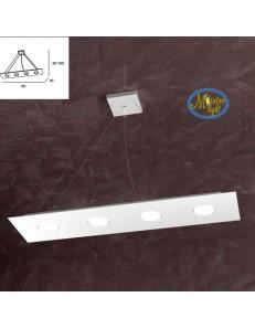 TOP LIGHT: Area sospensione in metallo rettangolare + 3 luci bianco 80x20cm in offerta