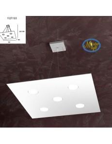 TOP LIGHT: Area sospensione in metallo quadrata + 2 luci bianco 60x60cm in offerta
